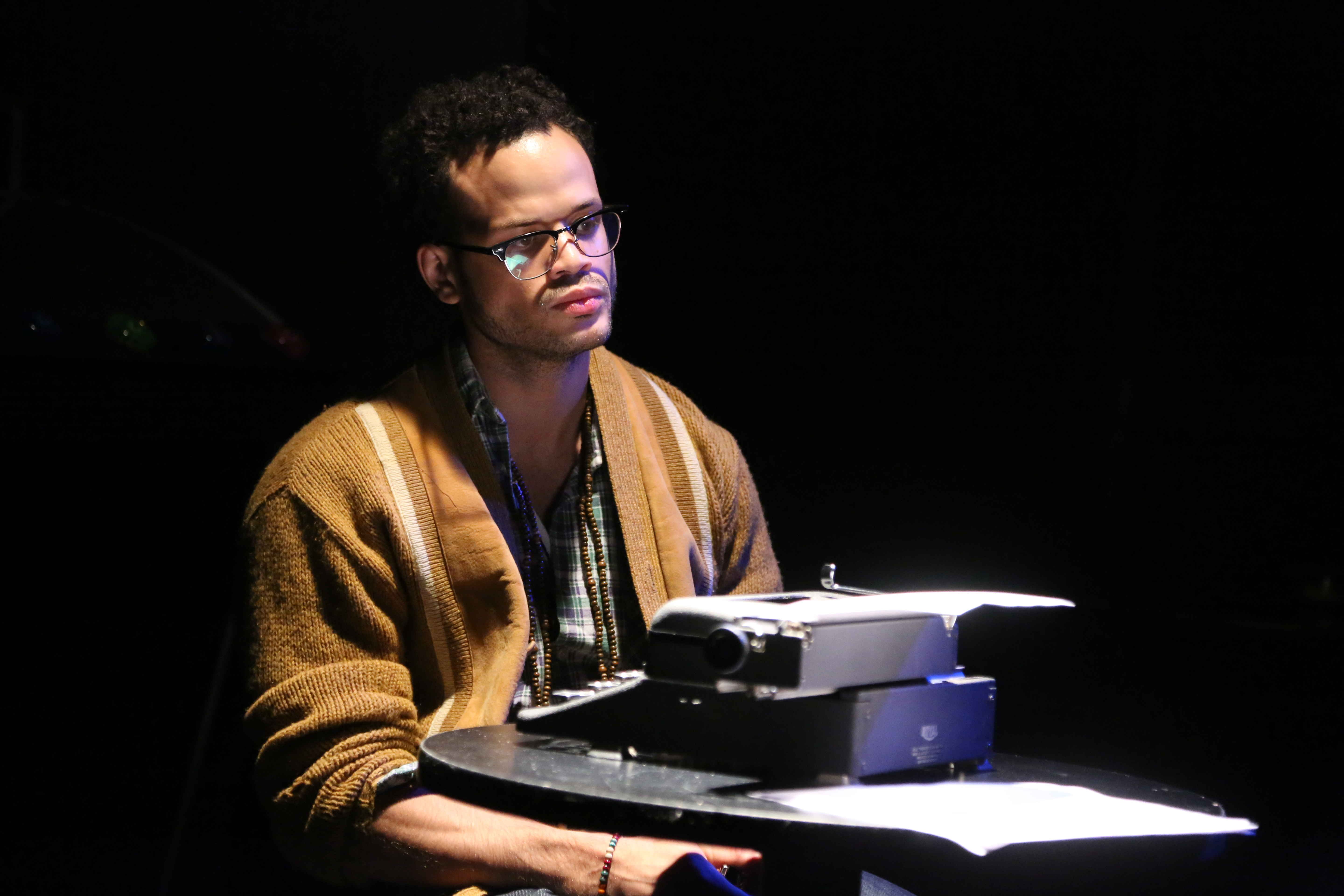 2014 Conservatory student John-Ivan Moquete in Chelsea Rep production of NO PLACE T BE SOMEBODY